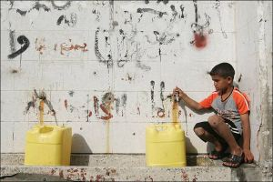 Finding clean water is difficult now that Operation Cast Lead destroyed Gaza's already limited water sanitation infrastructure